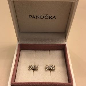 Authentic Bow Pandora Earrings